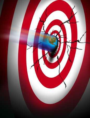 Earth bullet hitting target