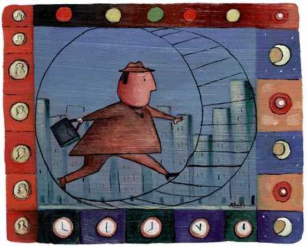 Man Running On Wheel