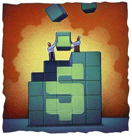 Building Blocks Make Dollar Sign