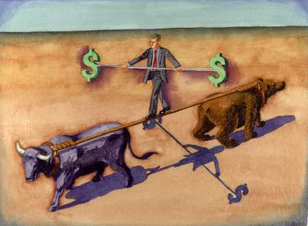 Bull And Bear Tightrope