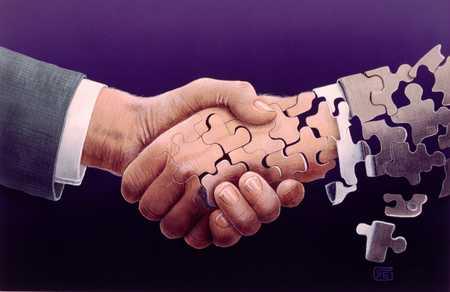 Puzzle Piece Handshake/Shaky Handshake