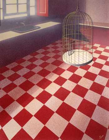 Birdcage In Kitchen