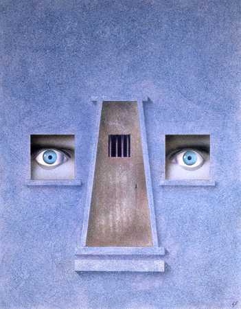 Eyes Looking Through Windows