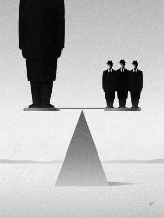 Figures Balancing On Scale