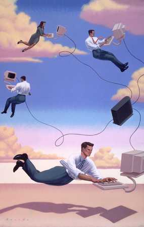 Floating Executives On Computers