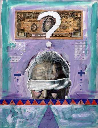 Man Questioning Finances