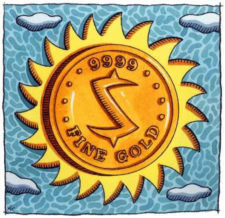 Gold Coin Sun