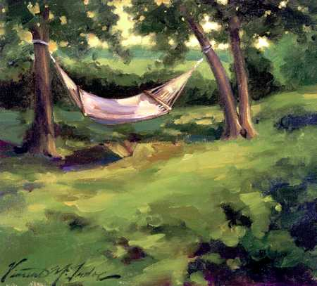 Hammock In Backyard