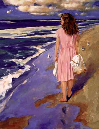 Woman by the seashore