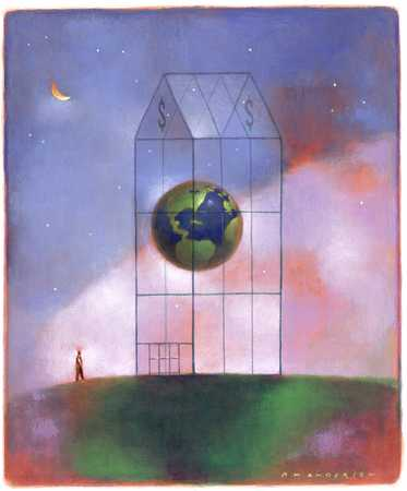 World Contained In Greenhouse