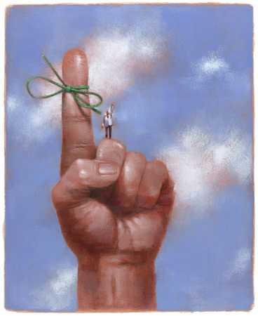 String Tied Around Finger