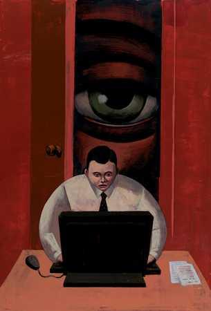 Big Brother Watching Employee