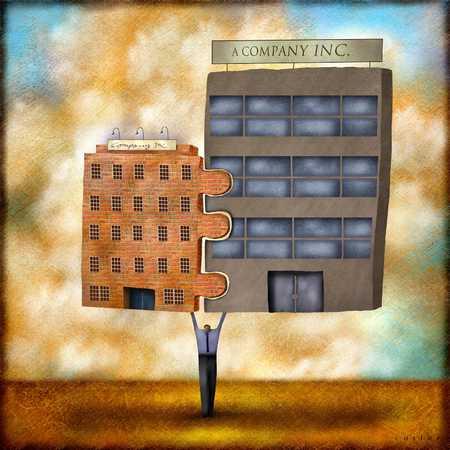 Two Buildings Merged