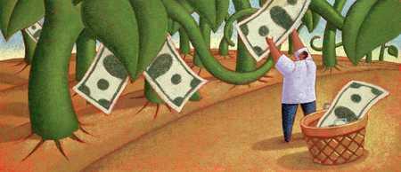 Man Harvesting Cash