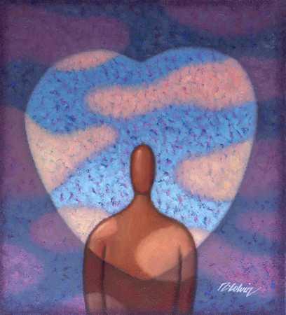 Figure In Shape Of Heart