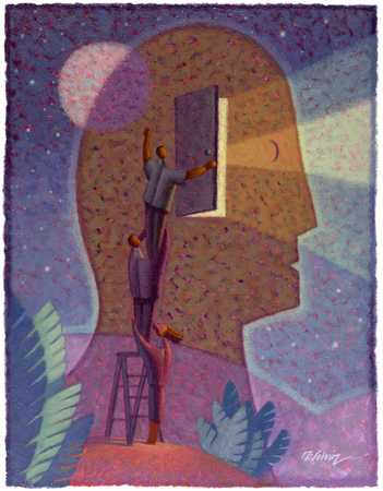 People Accessing Man's Mind