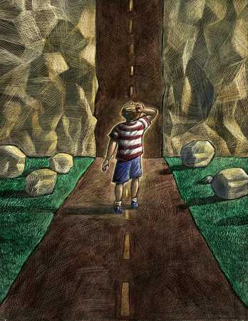 Child And Dead End Road
