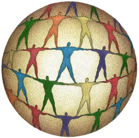 People In Globe