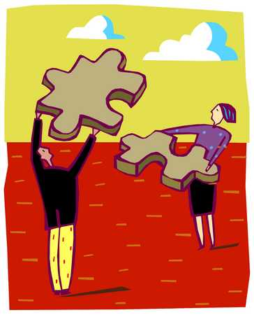 Couple With Puzzle Pieces