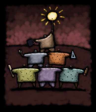 Teamwork Pyramid