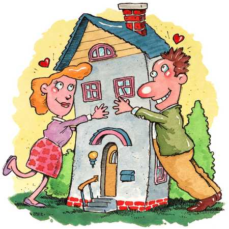 Couple Falling In Love With Dream House