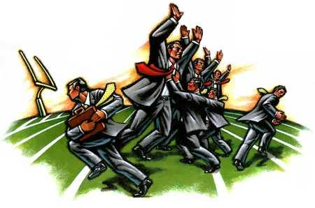 Businessmen/Football Game