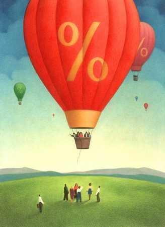 Percent Sign Hot Air Balloon