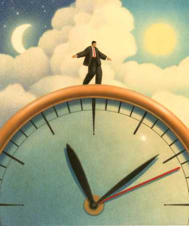 Man Standing On Clock