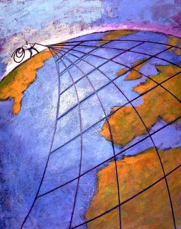 Net Over Globe