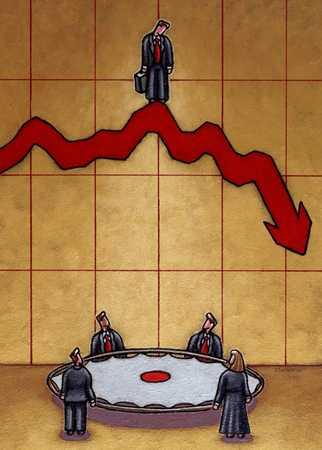 Investor in plummeting stocks