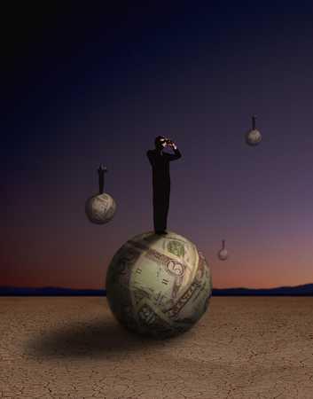 Men On Money Wrapped Spheres