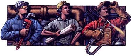 Three Workers