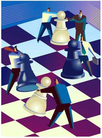 Businesspeople/Chess Match