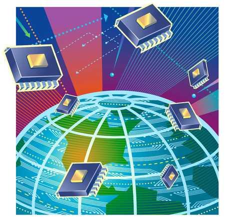 Microprocessors Over Globe