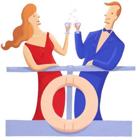 Man And Woman Celebrating