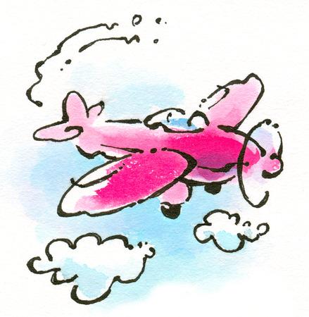 Pink airplane
