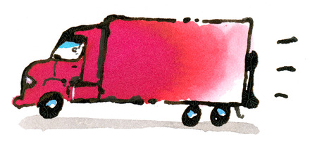 Illustration of delivery truck