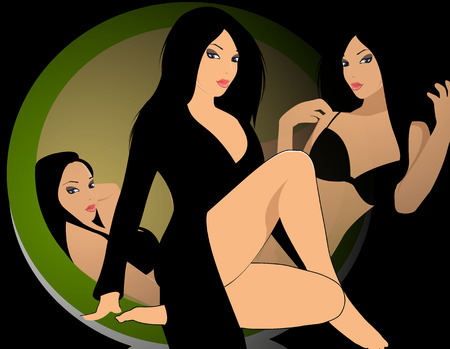 Montage of sensual woman