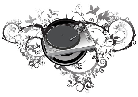 Illustration of turntable and design