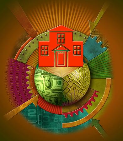 Housing and technology symbols