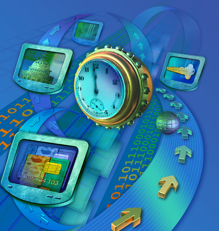 Technology and time symbols