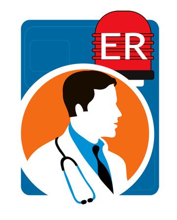 Doctor under ER alarm