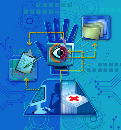 Technology and healthcare symbols