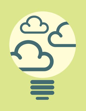 Clouds in light bulb