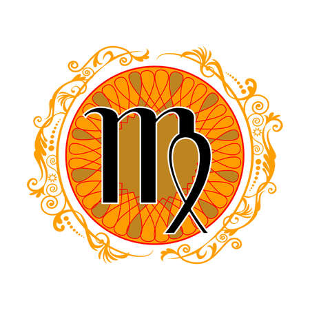 stock illustration virgo zodiac sign