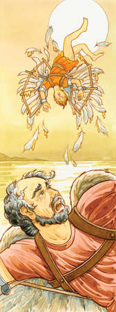 In Greek mythology the inventor Daedalus and his son Icarus used wings of wax to fly, but Icarus flew too close to the sun.