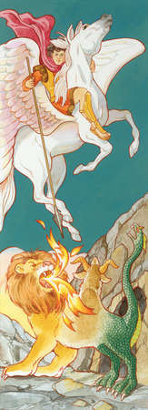 Pegasus, the winged horse of Greek mythology, featured in many stories.