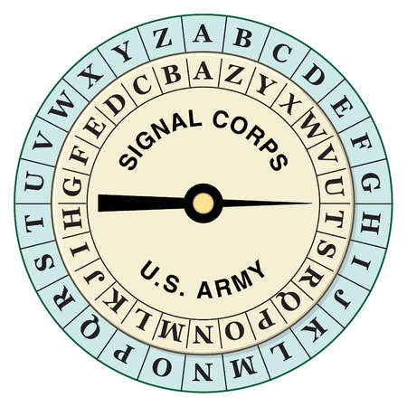 During WWI, the U.S. Army Signal Corps rotated the inner ring of this cipher disk to encrypt messages in the field quickly.