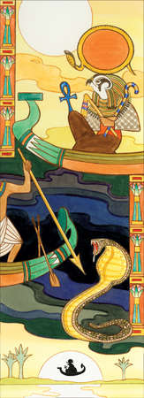 In Egyptian mythology, Ra was supreme sun god. Belief in him was so strong that the ancient pharaohs claimed relation to him.