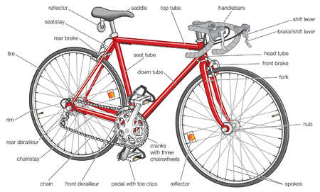 Basic features of a modern road bicycle.